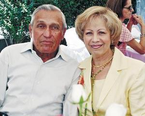 Jesús y Yolanda Pedroza, en reciente acontecimiento social.