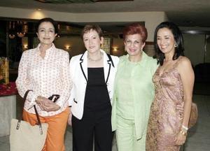 Norma Fayad, Luz María de Russek, Mery Jaik y Rocío Pámanes.