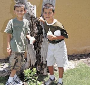 <b>01 de junio</b><p> Luis David Morales Villalobos y José Luis Meza Villalobos