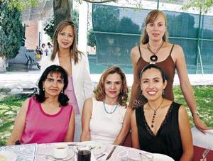 Nancy Zarzar, Gilda Mariscal, Gabriela Quezada, Gilda de Ochoa y Sofía Towens de González.