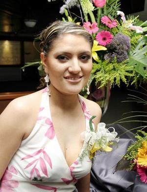 Alejandra Martínez Magaña, captada en su despedida de soltera.
