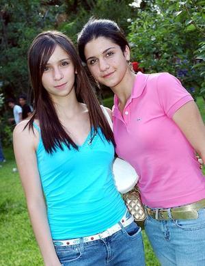 Ana Melissa Navarrete y Sofía Murra.