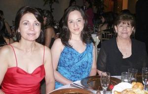 <b>06 junio </b><p>  Yolanda Martínez, Alma Delia Aguilar y Roselina Monárrez.