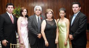 Mario Mejía Ceceña, Mary Trasfí, mario Mejía, Arelyu Torres, Ruth lafuente Leija y Jorge Enrique Mejía, en reciente evento social