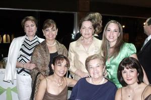 Angelina de Garza, Angelina de Madero, Lety de Cepeda, Paty de Arizpe, Ana de Garza, Lily  de Castro y Mayela de Del Río, captadas recientemente.
