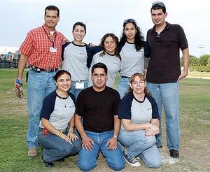 Rodrigo Romo, Luisa Díaz, Nayeli Argote, Jaime Torres, Alma Gaytán, Guillermo Ríos y María Luisa Villarreal