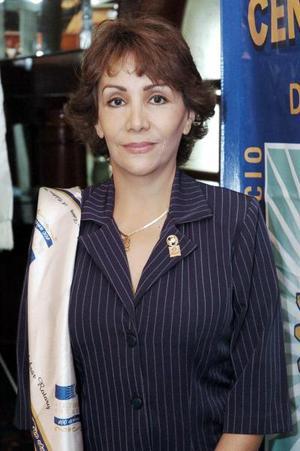 María de la Luz Martínez de Méndez Lastra, presidenta del Club Rotario de Torreón Centenario.