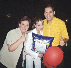 Anna Vázquez de Aguilar, Lorena Murillo Y David Aguilar