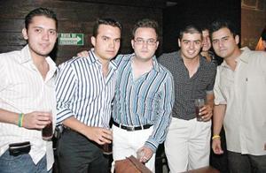 Jorge Zúñiga, Javier Dávila, Alberto Braña, Rafael Álvarez y Agustín Saldaña