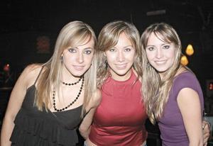 Edna Monroy, Jennifer González y Sonia Pérez