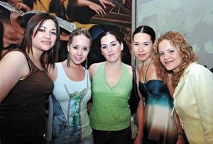 Roxana de Chapa, Ana Cris Martinez, Claudia de De la Fuente, Perla Villarreal y Karime Jalife de Ramos