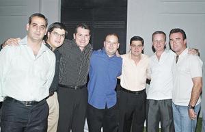 Manuel García, David González, Juan Meléndez, Franco Satidely, Nessim Issa, Luis Sordo y Ramón Ávila