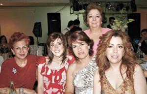 Mery Jaik, Cecilia Martínez, Lore Batarse, Maru González y Gina Ramírez