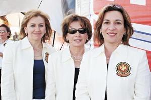 Olga P. de Luna, Concha Lupe G. de Montalvo y María Aurora L. de Gómez