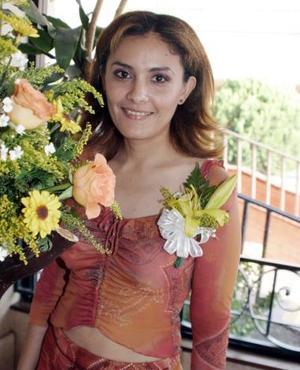 Angélica Elena Ayala Mosqueda, captada en la despedida de soltera que le organizaron.