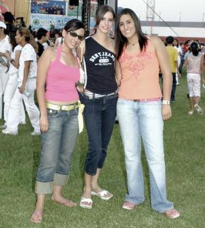 Stefy Miranda, Mariana Lugo y Meriely Romo