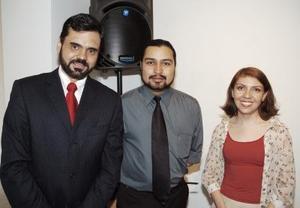 Antonio Méndez Vigata, Miguel Ángel Espinoza e Ileana Pinal.