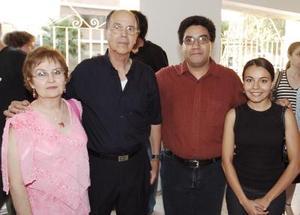 Blanca Inés Martínez, Alonso de Alba, Abdo R. Sabag y Teresa Hernández.