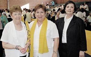 Martha de Uvieto, Gloria de López y Marina de Pruneda