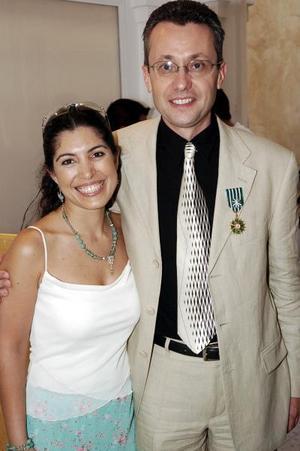 <b>12  junio </b><p> Ana Sofía García Camil y Gilles Guey.