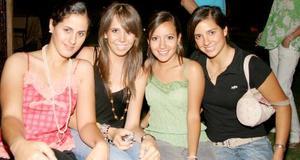 <b>14 de junio </b><p> Marcela Dabdoub, Monse González, Mary Inés Carrillo y Samanta Alanís