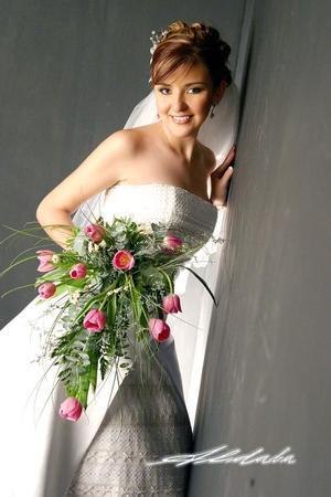 Lic. Cynthia Yolanda Santibáñez García, el día de su boda con el Ing. Jaime Arturo Durán Villalobos