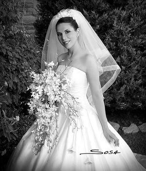 Srita. Liliana Cepeda Ramírez, el día de su enlace matrimonial con el Sr. Carlos Vázquez Fierro
