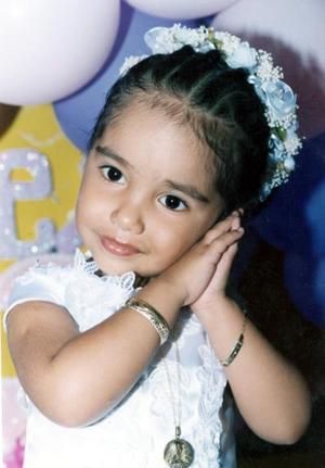 Carmen Alexia González Sánchez cumplió tres años, por lo cual sus papás le organizaron un convivio infantil.