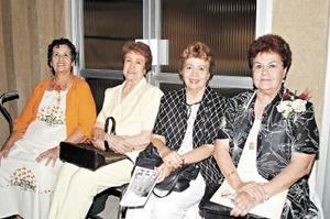 Josefina Aguado, Mary Suárez del Real, Violeta de Cárdenas y Coty Guerra