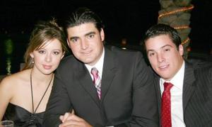 Malena Papadópulos, Fernando Ramos y Daniel Fernández.