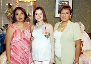 Karla Núñez Espinoza e Irma Rodríguez de Núñez, le ofrecieron una fiesta de canastilla a Susy de Núñez, con motivo del cercano nacimiento de su bebé