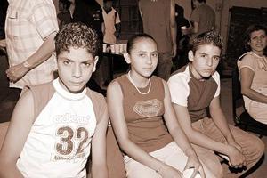 Jorge Rivera, Nimmsy Zúñiga y Jesús Rivera.