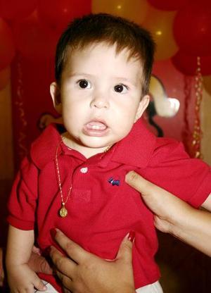 Agustín Ferna´ndez Domínguez, captado el día que celebró su primer año de vida