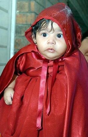 Cecilia Mayela Andrade Ibarra, captada el día de su piñata; es hijita de Víctor Andrade y Patricia Ibarra de Andrade.