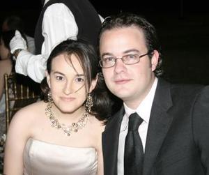 Mariana Fernández y Alberto Braña, en reciente convivio.