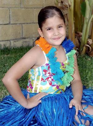 Marieli Pámanes Hernández celebró su noveno cumpleaños, con un alegre convivio al estilo hawaiano.