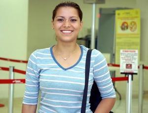 Blanca Lomas llegó procedente  de Nueva York.