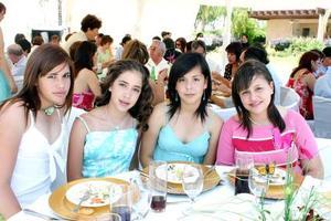 Clara Garnier, Diana Flores, Deni Sleiman y Sofía de la Torre