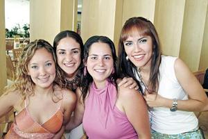 Jaqui, Any, Paola y Susana, captadas recientemente.