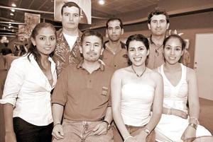 Cynthia Rosales, Martín Martínez, Luisa Díaz, Verónica Martínez, Manolo Miñarro, Xerónimo Esparza y Carlos Villalobos