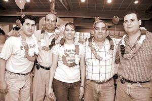Jorge Aguilera, Francisco Ramírez, Conny Ávila, José Manuel Campillo y Carlos Rebolledo