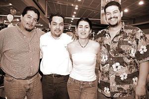 <b>20 de  junio</b><p>  Ricardo Woo, Enrique Fernández, Agapito Cardiel  y María Luisa Díaz