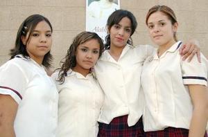 Ana Karen Barrientos, Patricia López,  Liliana Pulgarini y Ana Lugo.