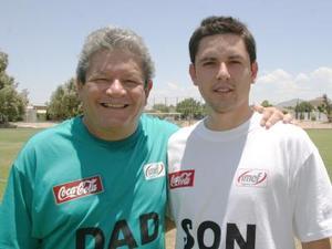 Guillermo Ávalos y su hijo Ricardo.