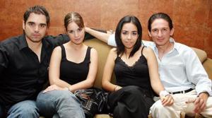 <b>21 de junio </b><p> Paulo de la Peña, Adibe Nahle, Dalia Romo y Roberto Álvarez.