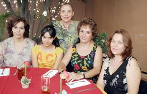 Bertha Martínez de Madero, Giovanna Diz, Gaby Mcanally, Martha Mcanally y Araceli Gallardo.