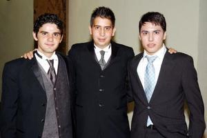 Ricardo Marcos Melo, Marcelo Valdés  y Ricardo Marcos Bugaráin.