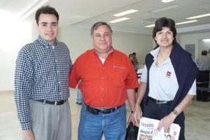 Enrique Laguna, Leonel Montesinos y juan Calderón viajaron al Distrito Federal.