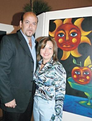 Los artistas Félix Valle y Socorro Martínez
