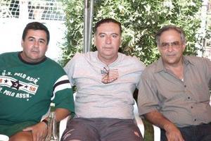 Eduardo Diez, Luis delMoral y Fernando Fernández.